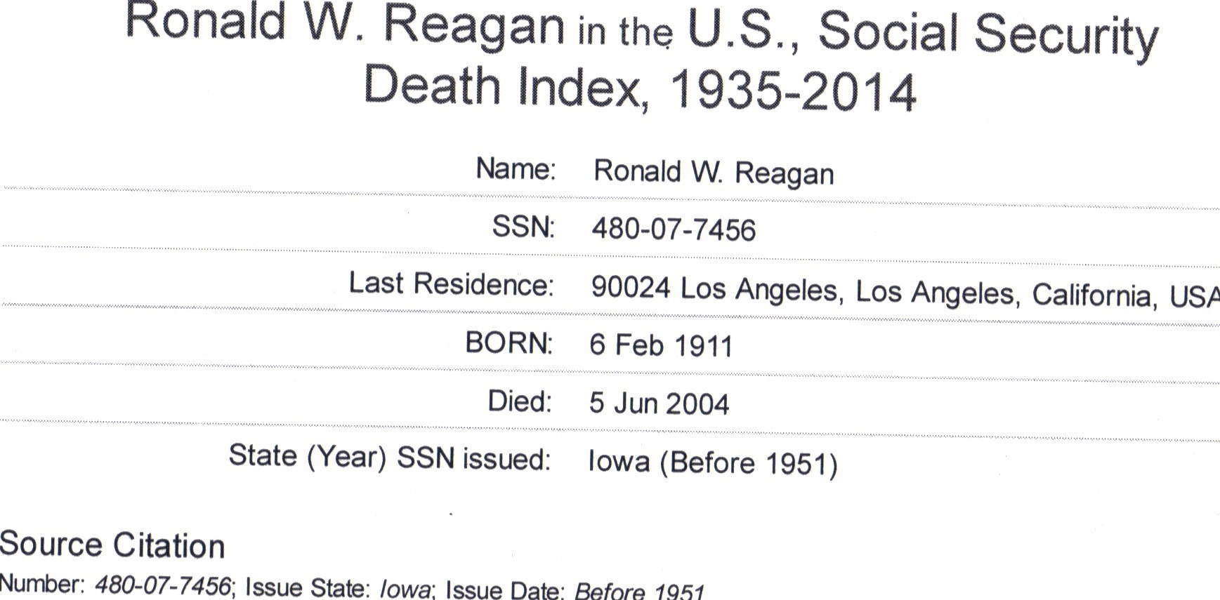 Social Security Numbers of Celebrities, Politicians Posted ...